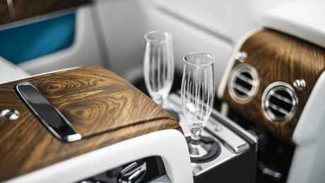 Drink and ride: The Cullinan features a chilled compartment in the back seat.