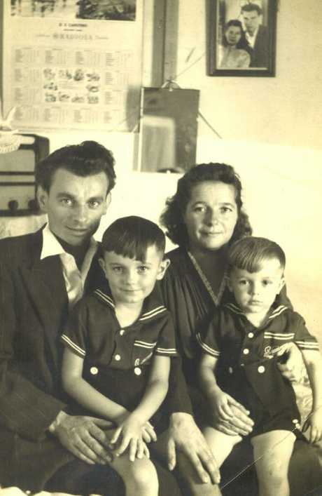 Ludwika (right) and Hipolit Palaszczuk, the grandparents of Queensland premier Annastacia, with their sons Henry and Jack.
