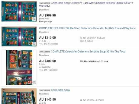 Complete sets are fetching more than $300.