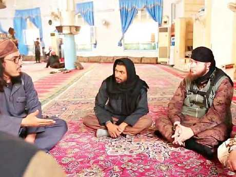 Neil Prakash in ISIS propaganda video. Picture:  Supplied