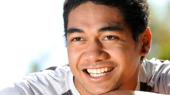 Chris Feauai-Sautia, then 17 and at Brisbane State High School, in 2012.
