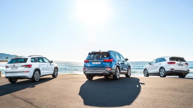Cream of the seven-seat SUV crop: Kodiaq, Santa Fe and Sorento