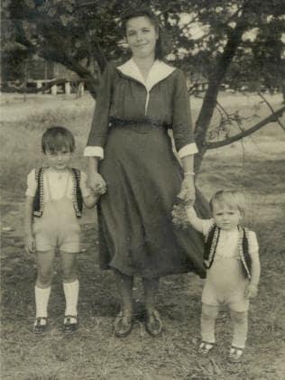 Ludwika Palaszczuk with Henry and Jack.