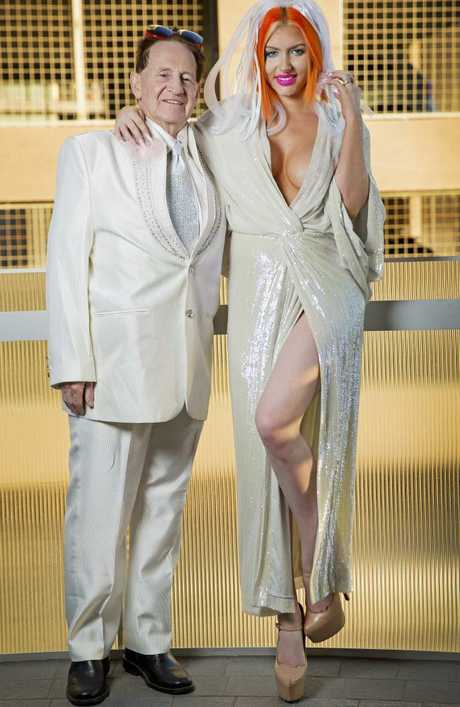 Geoffrey Edelsten and Gabi Grecko at their wedding after meeting on a Sugar Daddy website. Picture: Nathan Dyer