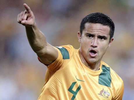 Cahill came through in the clutch for Australia time and time again. Picture: AP