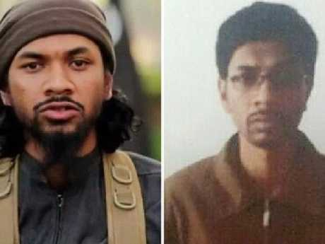 Australian Isis recruiter Neil Prakash before, left, and after his arrest by Turkish border guards. Picture:  The Guardian