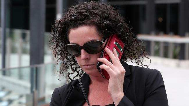 Lisa Webber leaves Brisbane Magistrates Court after being sentenced for driving at people at South Bank. Picture Tara Croser