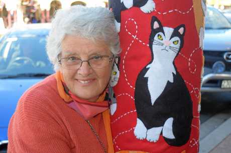 CAT'S RULE: In Margaret Armstrong's house, her cat lucky