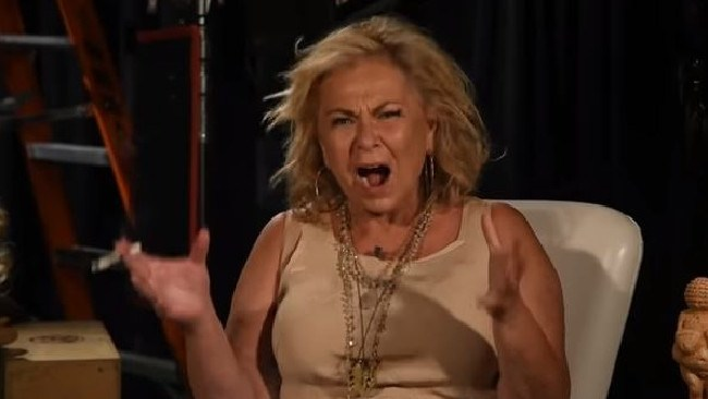 Roseanne Barr has done an odd interview smoking a cigarette and talking about Valerie Jarrett.  Picture:  YouTube