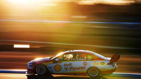 Drivers will be racing under lights on Saturday. Picture: AAP/Mark Horsburgh
