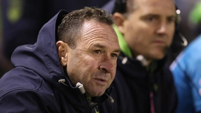 Ricky Stuart has called for changes after refereeing calls cost the Raiders dearly. Picture: Brett Costello
