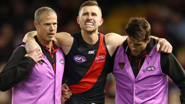 Shaun McKernan left the game with an injury. Picture: Getty Images