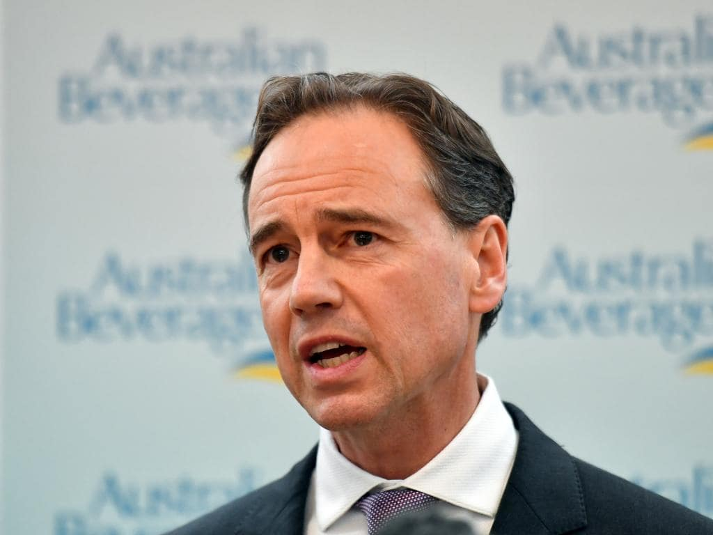 Health Minister Greg Hunt Picture Mick Tsikas AAP