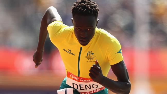 Joseph Deng will return to Australia next week as the national record holder in the 800m. Picture: Ryan Pierse/Getty Images