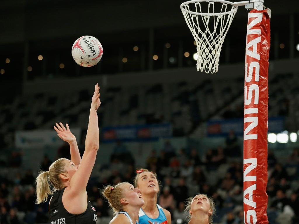 Caitlin Thwaites was almost perfect for the Magpies. Picture: Getty Images