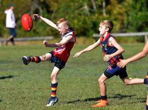Coolum against Noosa U/10 Aussie Rules match at