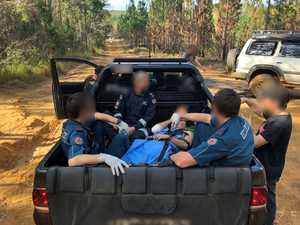 Team effort saves forestry crash victim
