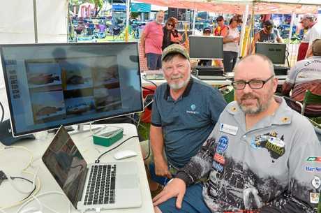 Bill Sawynok and son Stefan Sawynok from Infofish Australia at the 2018 Boyne Tannum Hookup.