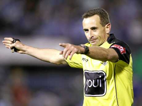 Referee Gerard Sutton has got the top gig on grand final day. Picture: Mark Kolbe/Getty Images