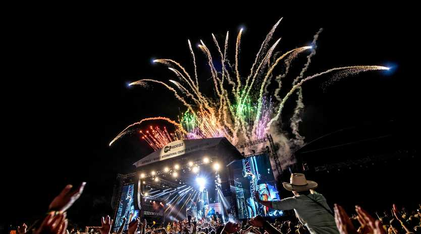 Luke Bryan's closing show at this year's CMC Rocks music festival. Supplied by Chugg Entertainment.