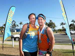 Reluctant runner 'just keeps going' with support of crew