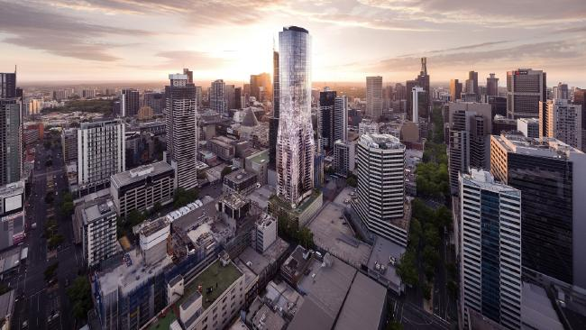 An artist's impression of Eq. Tower in the Melbourne. Supplied