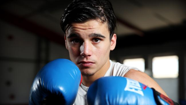 Rising star Brock Jarvis is trained by boxing great Jeff Fenech. Picture: Tim Hunter.