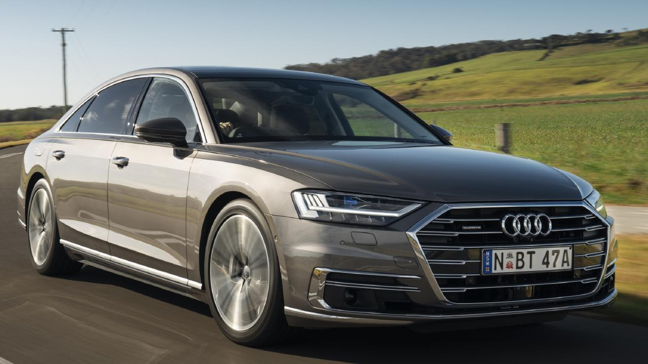 Audi's new A8 adopts a deeper front grille and adds even more rear legroom.