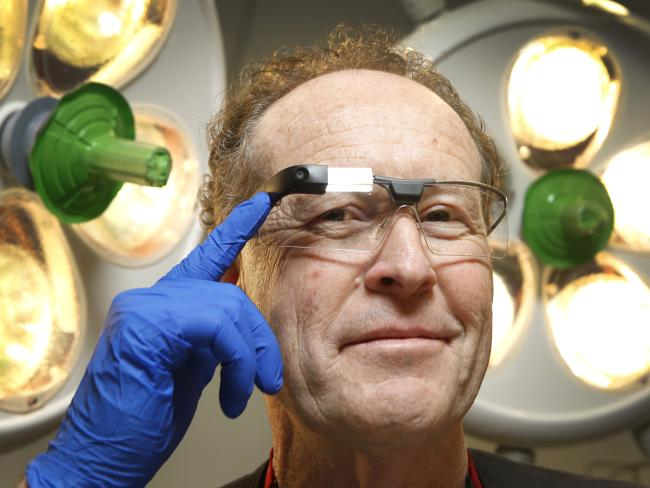 There's already practical use for augmented reality glasses, with Director of trauma at The Alfred, Prof. Mark Fitzgerald developing a prototype of Google Glass, which can be used by ED doctors. Picture: David Caird