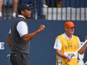 Tiger looms large as Spieth shares Open lead