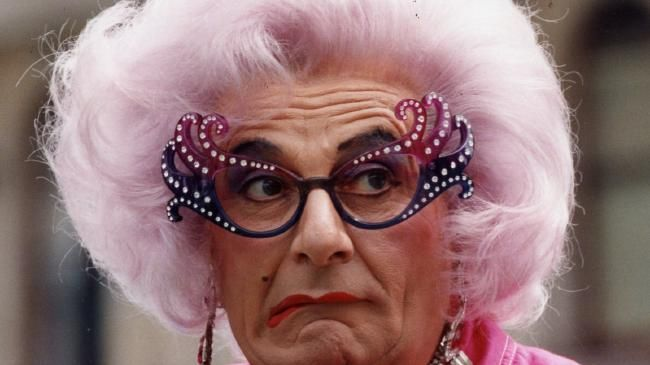 Former celebrity Barry Humphries as Dame Edna Everage. Picture: Supplied