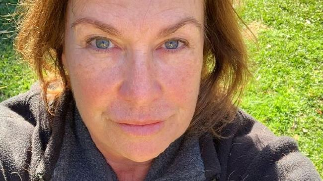 Tracy Grimshaw's make-up free photo she posted on her Instagram.