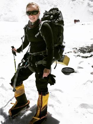 Alyssa Azar climbing Mount Everest.