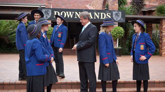NEW CHANGES: Downlands College Principal Mr Stephen McIllhatton with Middle School students.