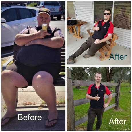 AMAZING WEIGHTLOSS: Truck driver Craig McPherson lost an amazing 100kg thanks to Riverina Hynotherapy.