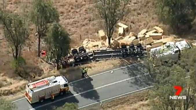 Elderly driver dies in hay truck crash
