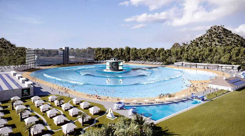 Surf Lakes provided the latest artist's impression of a state-of-the-art wave pool.