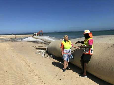Capricornia MP Michelle Landry inspects the site in early 2018.