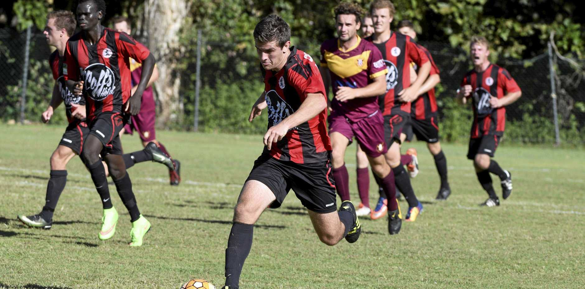 JUMP AHEAD: The single goal win over Urunga puts Coffs United in the box seat for second spot on the ladder.
