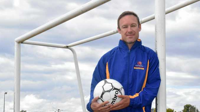 Football Queensland Community Cup under 15 girls head coach for South West Queensland Tim Taylor.