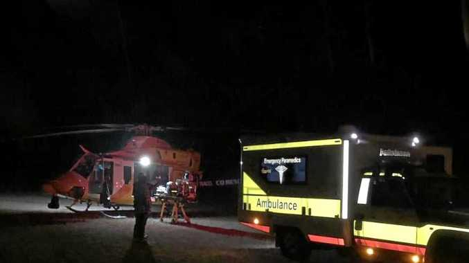 Man airlifted after serious crash overnight