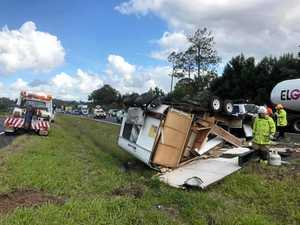 clayton's towing caravan crashes