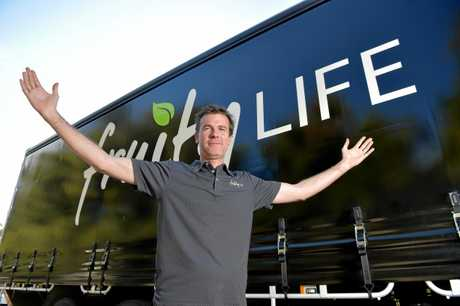 Fruity Life owner Kurt Drummond is excited about Thursday's opening of his new Maroochydore store.