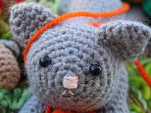 Crocheting furry friends is a way for group to ask for help