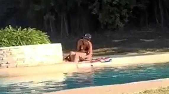 WATCH: Woman caught shaving legs in public pool