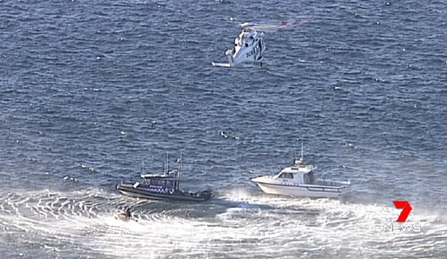 Emergency services attend the scene at Kurnell. Picture: Channel 7