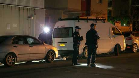 Forensic Investigation at a crime scene after a fatal shooting. Picture: Damian Hoffman