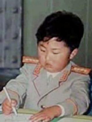 Little dictator: Jong-un as a boy.