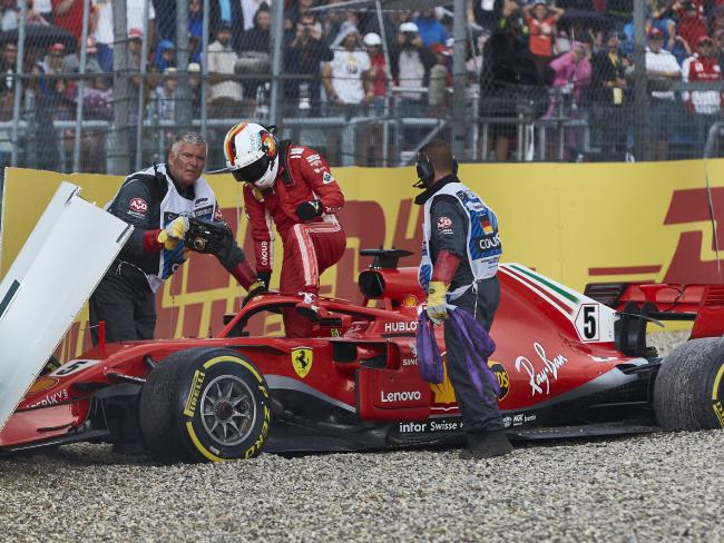 Sebastian Vettel had a day to forget.
