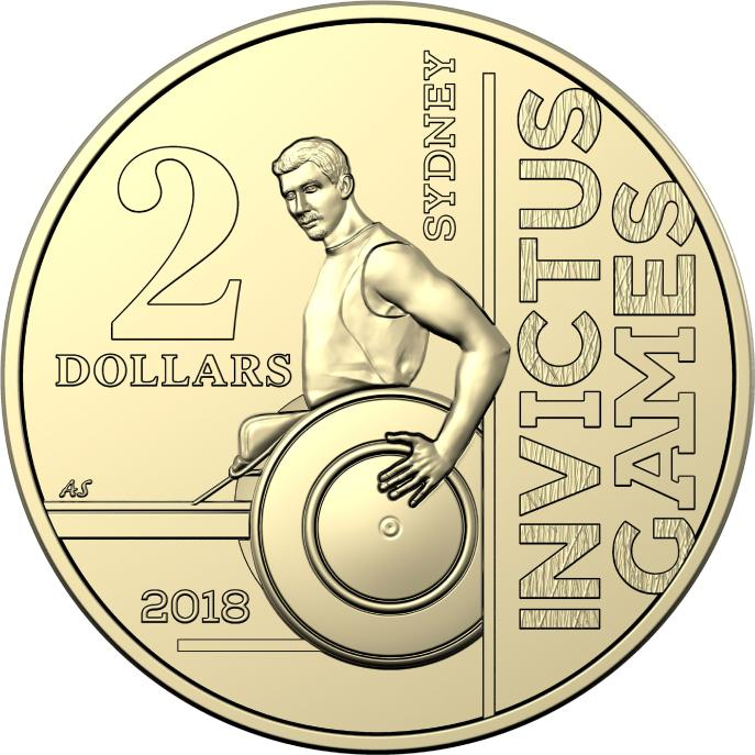 The new $2 coin to celebrate Invictus Games Sydney 2018. Picture: Supplied